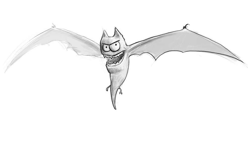 Little devils bat character. I thought this guy would be fun to model.