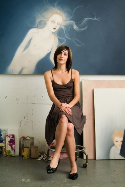Kirsten Kramer in her studio in DUMBO, Brooklyn 2007 - Photography by Paul Sunday