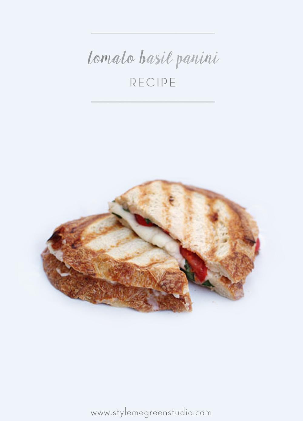 tomato basil panini recipe