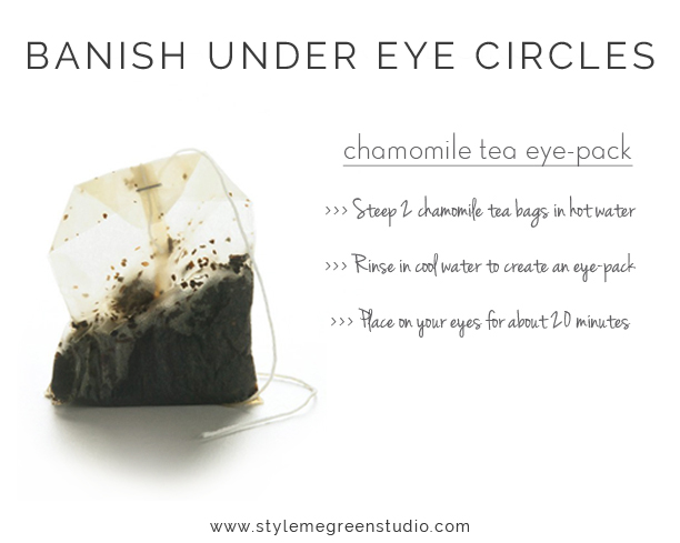 how to get rid of under eye circles naturally