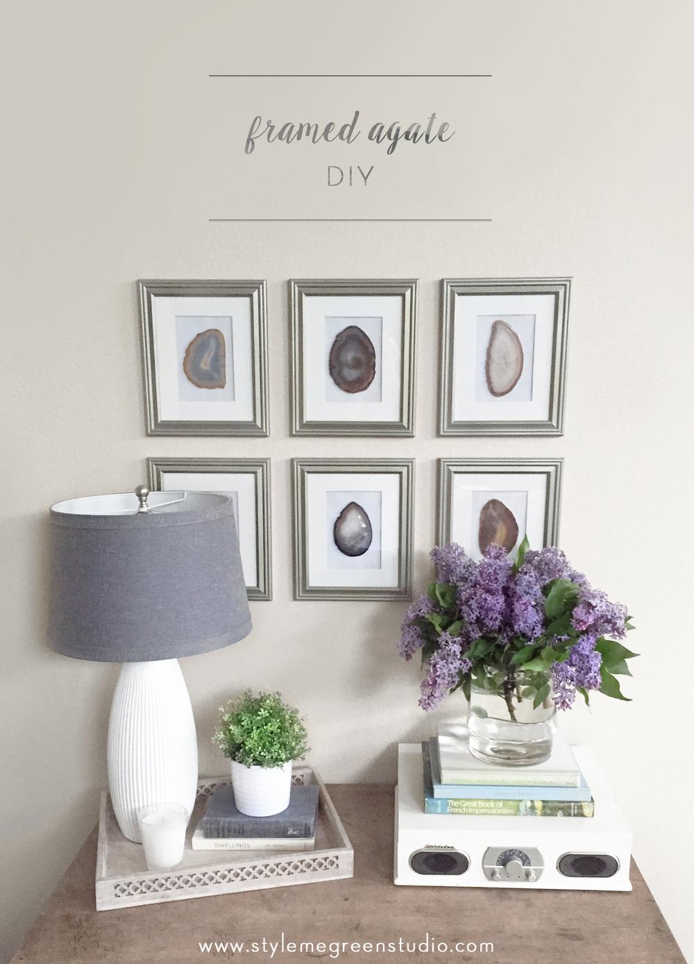 diy framed agate collection