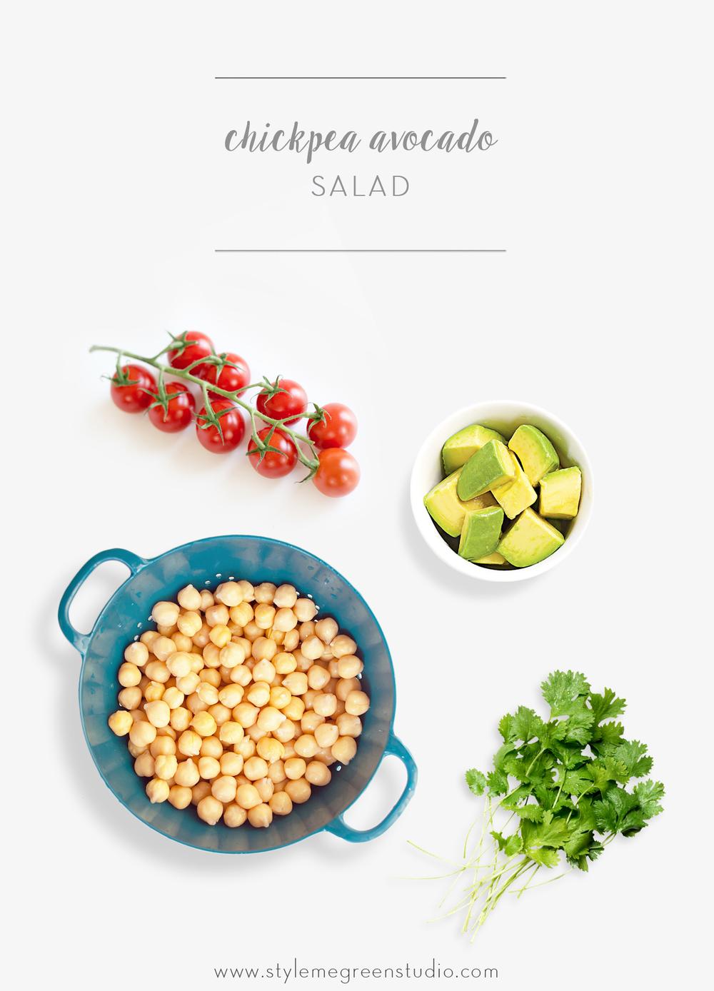 quinoa chickpea avocado salad