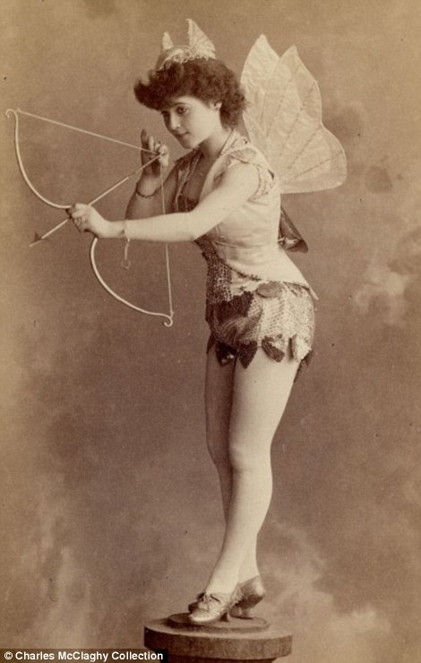 By modern standards, the burlesque dancers of the 1890s are barely deserve notice for their attire - tights covering their legs from foot to waist, many wore long sleeves to cover their arms and nary  a spot of cleavage to be found.   But in their time, these women were positively scandalous. Their form-fitting clothes showed off the shapes of their legs and thighs. Their corsets accentuated their bosoms. And everywhere they performed men threw themselves into frenzies of erotic desire.   Vintage photos collected by Charles H. McCaghy, a professor emeritus at Bowling Green State University in Ohio, reveal just how different beauty was 120 years ago than it is today.     Read more:  http://www.dailymail.co.uk/news/article-2114487/Photos-reveal-scandalous-burlesque-dancers-1890s.html#ixzz2rFSCFdf0