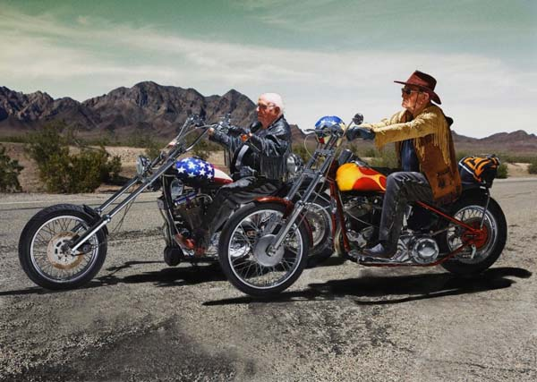 """Easy Rider"" – Walter Loeser (98) and Kurt Neuhaus (90)"