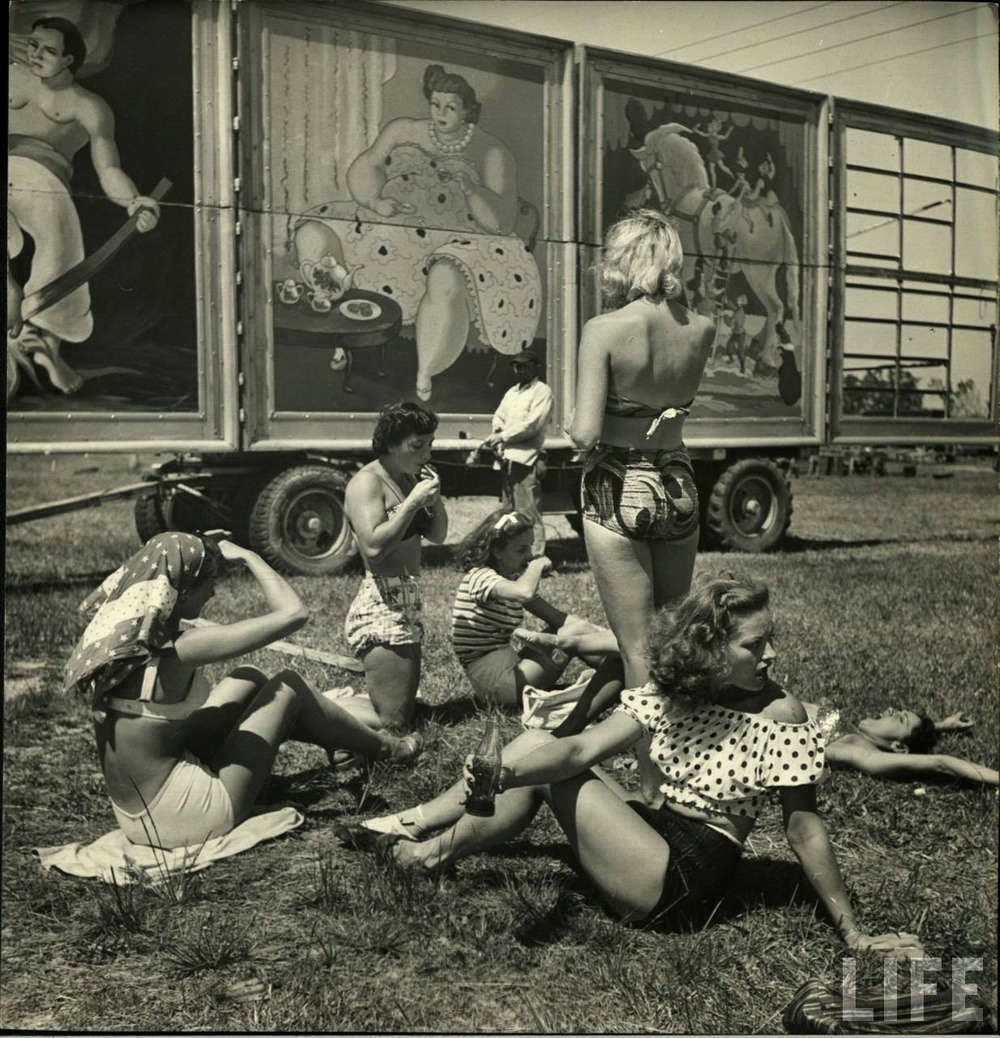 Daily Life of Circus Girls in Sarasota, Florida, ca. 1949 (1).jpeg