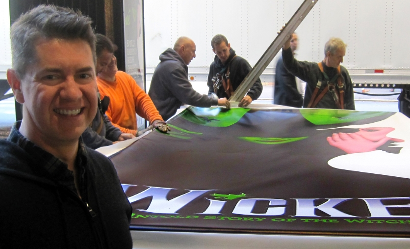 Overseeing the installation of WICKED's refreshed marquee - October 2013.