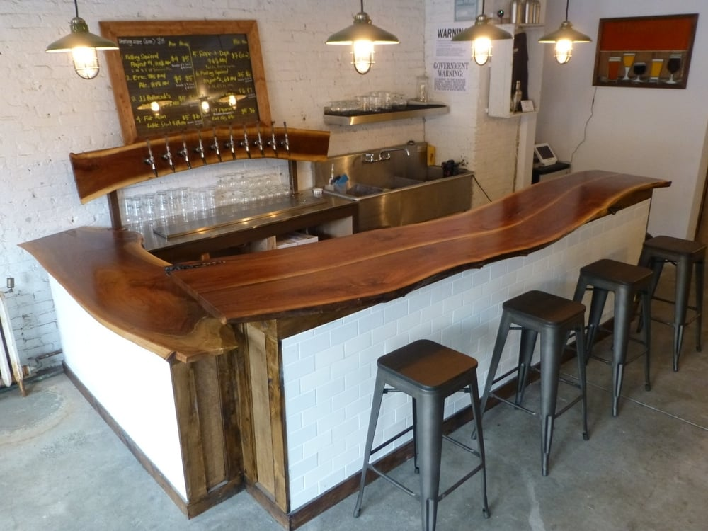 Merveilleux Custom Bar Built For Strong Rope Brewery In Brooklyn, NY. Made From A Black  Walnut Tree Felled By Hurricane Sandy.