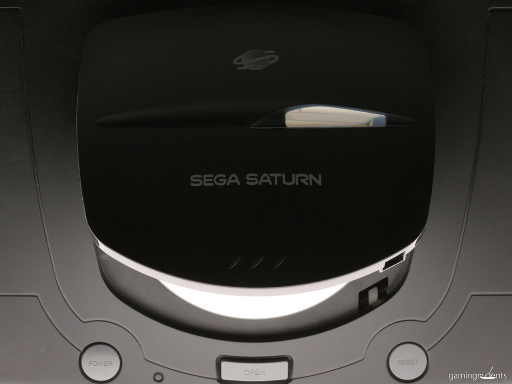 AERIAL VIEW OF THE SEGA SATURN - THE FIRST DISC GAMING PLATFORM