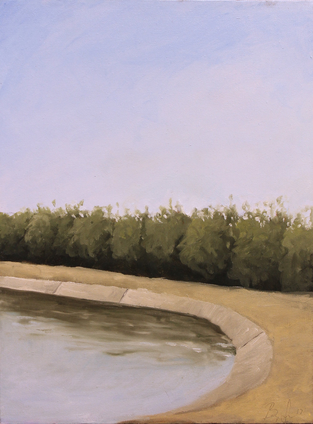 Canal bend, oil 2017