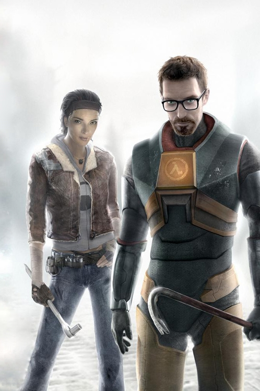 Gordon Freeman's crowbar placement says it all.