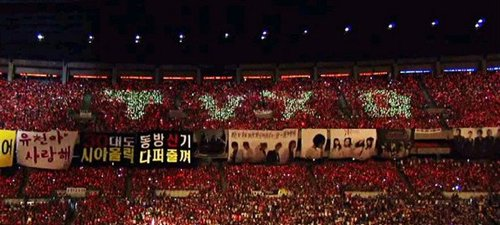 "The famous TVXQ ""red ocean."""