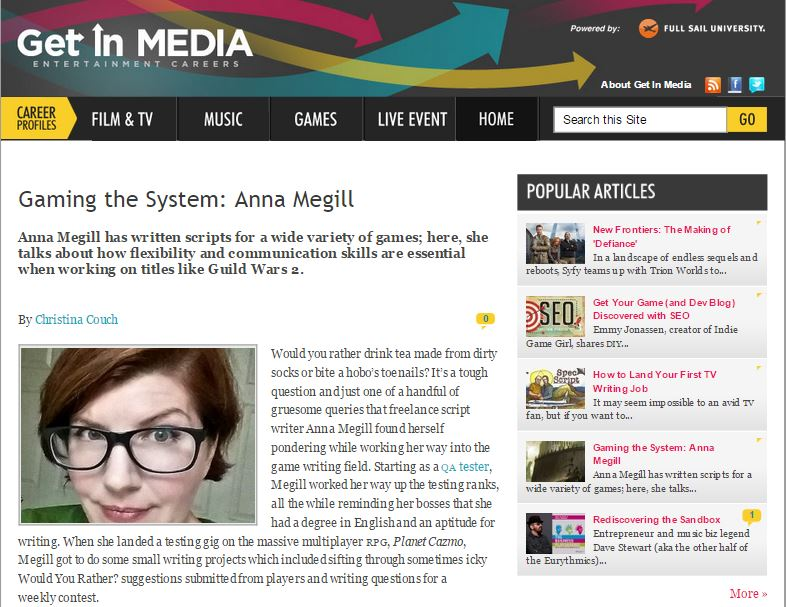 http://getinmedia.com/articles/game-careers/gaming-system-anna-megill