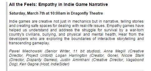Empathy Games Panel blurb