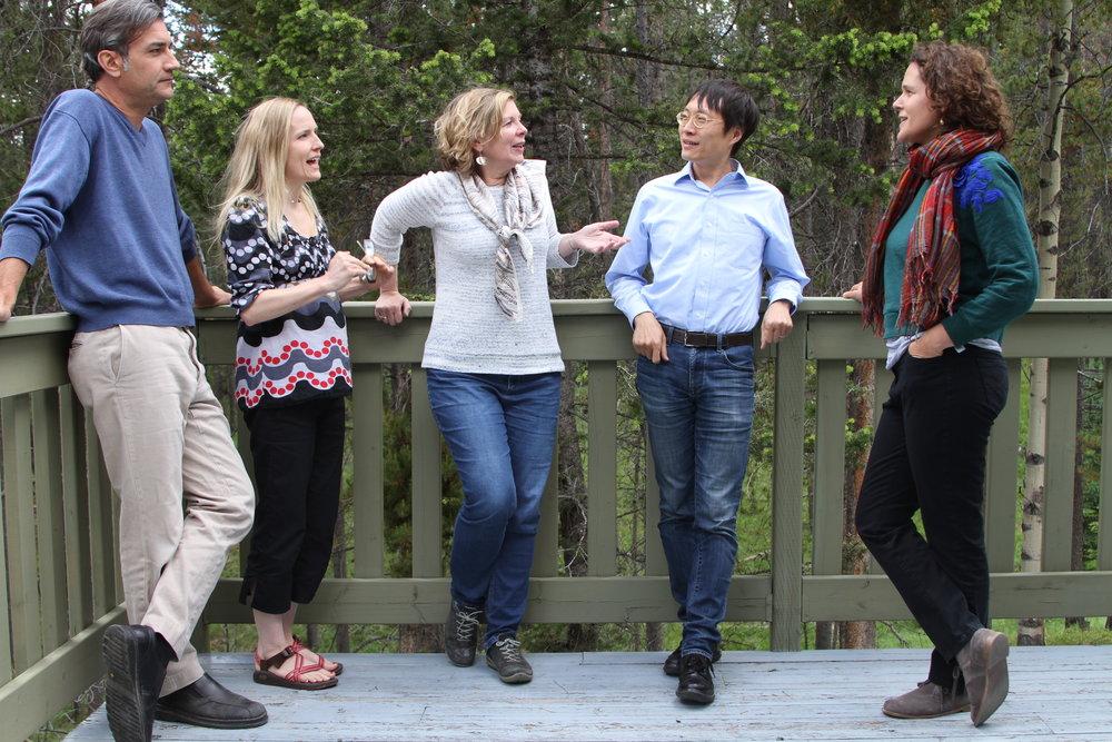 Matt, Acushla, Susan, Lei and Ligia at the Leighton Artist Colony