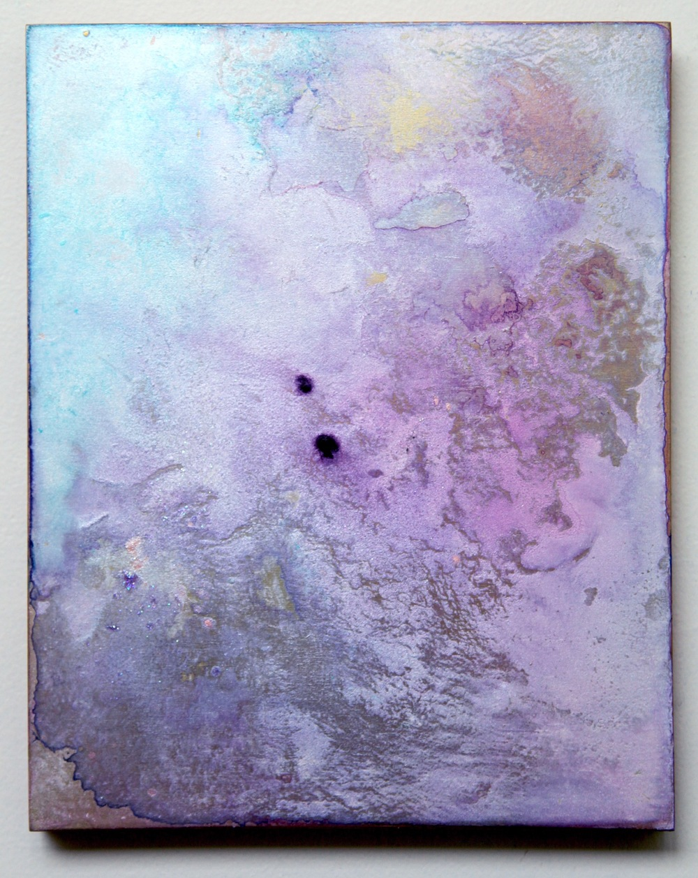 T1( Transience Series )  2015  Acrylic and metal powder on board  H27.3cm x W22cm