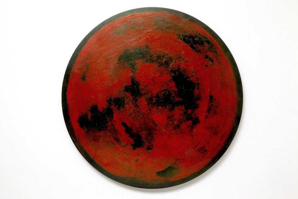 2016  Acrylic and metallic powder on board  53cm diameter