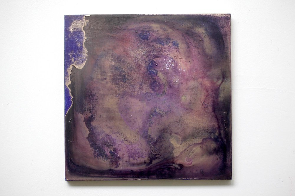 2016  Acrylic,mineral pigment powder and metallic powder on board  H27.3cm x W27.3cm