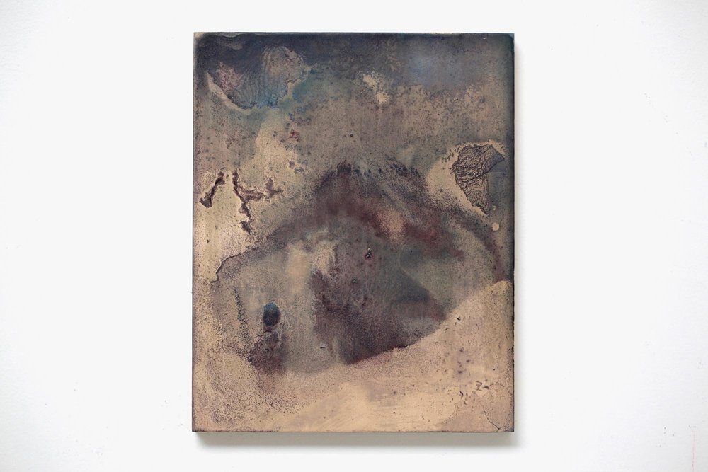 2016  Acrylic ,mineral pigment powder and metallic powder on board  H27.3 x W22.0cm