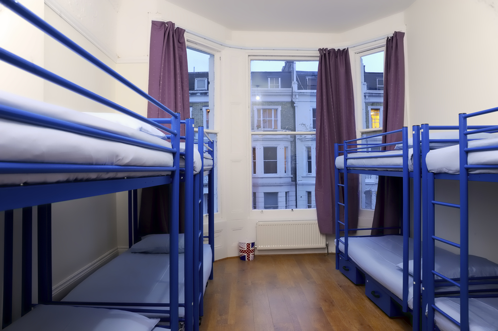 Another view of one of our our eight bed hostel rooms.