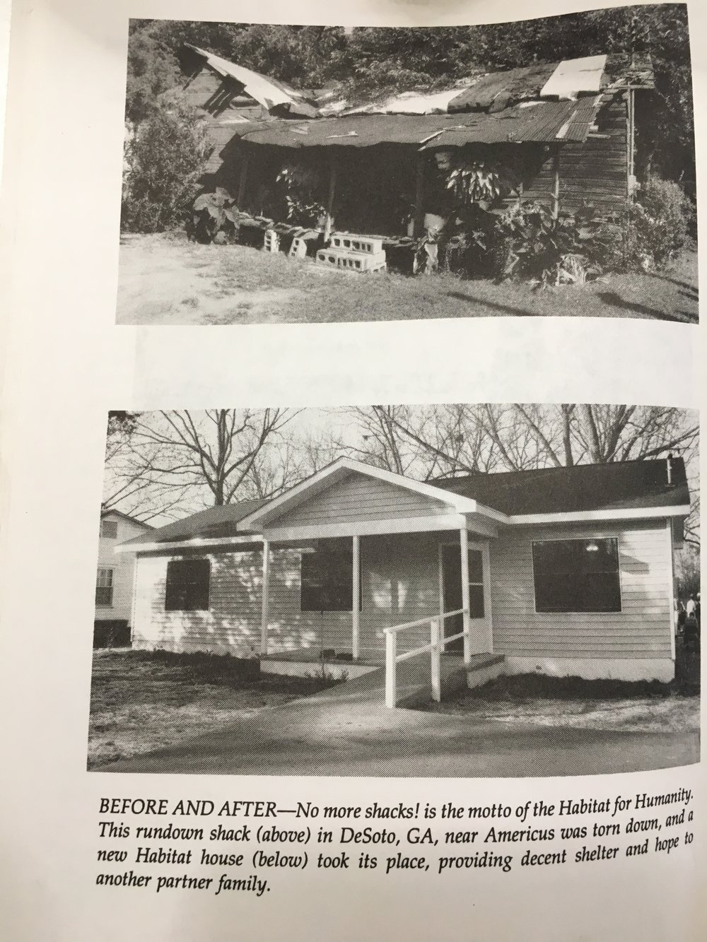 "These photos of the house Miro worked on was published in Habit for Humanity founder Millard Fuller's 1994 book the ""Theology of the Hammer""."