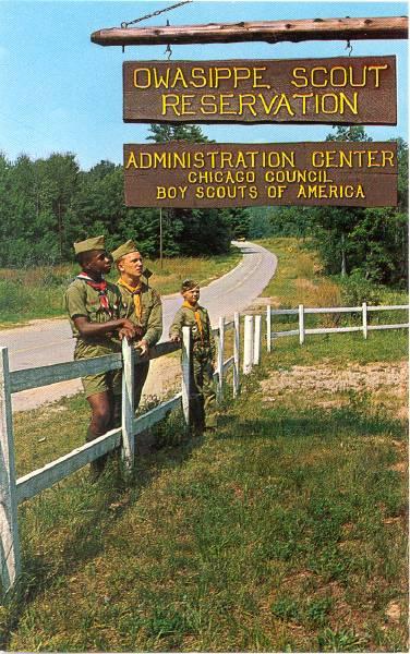 Owasippe Postcard Circa 1955