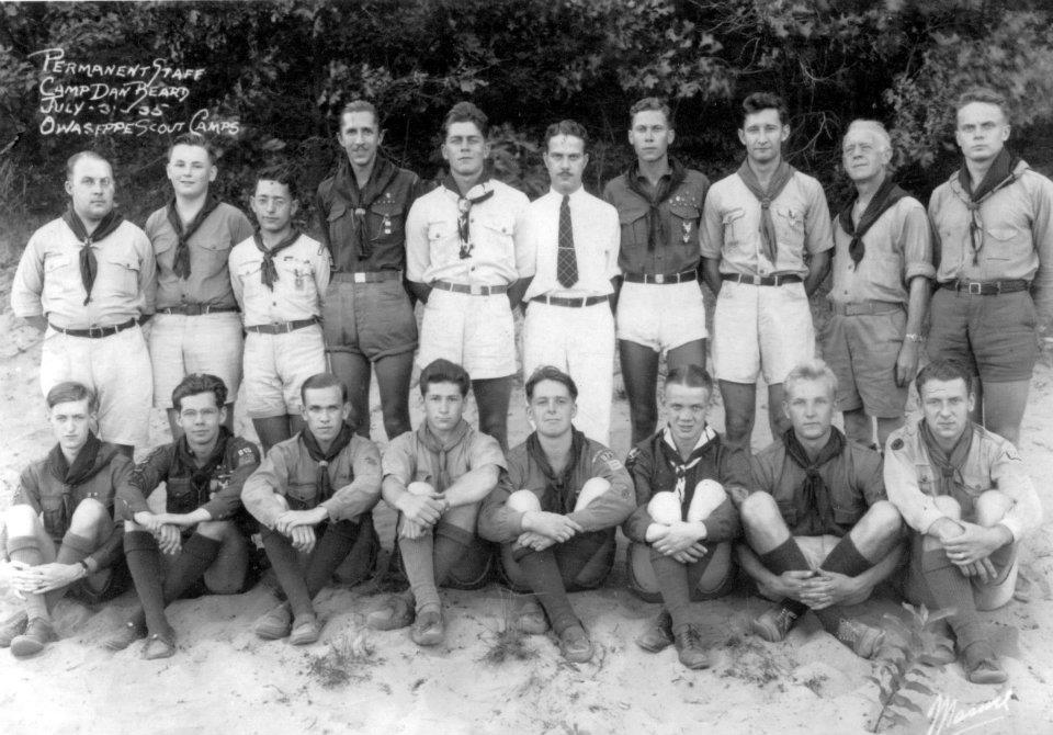 Camp Beard Staff 1935