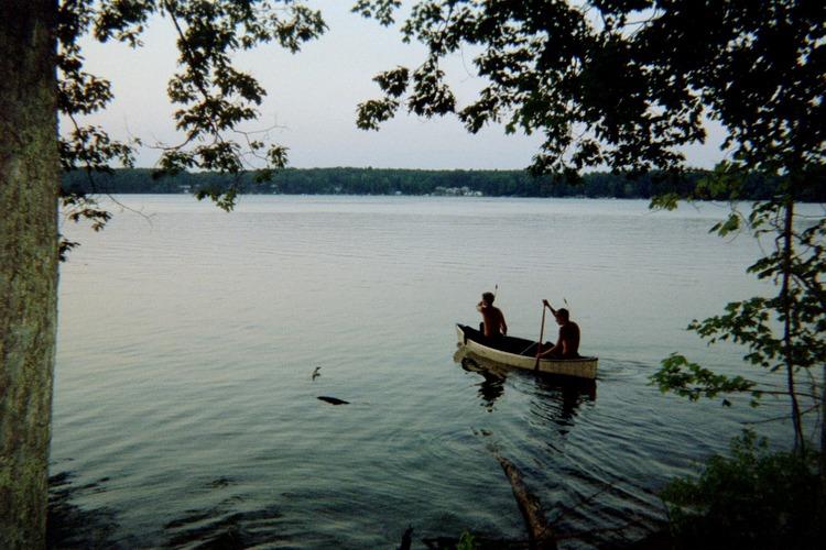 OA Canoe on Big Blue Lake