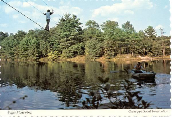 Monkey Bridge Lake Wolverine- Circa1970