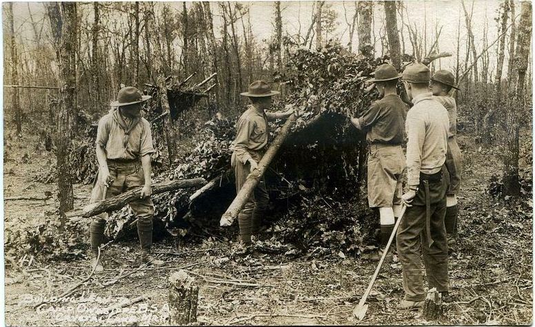 Early Scoutcraft Shelter
