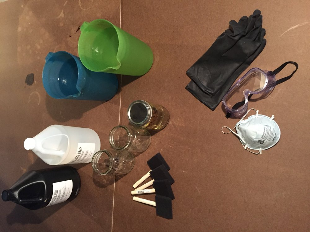 Staging tools and supplies