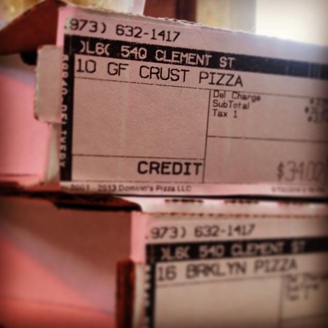 #glutenfree #dominos #pizza direct to #540club w/ @lynmmartin