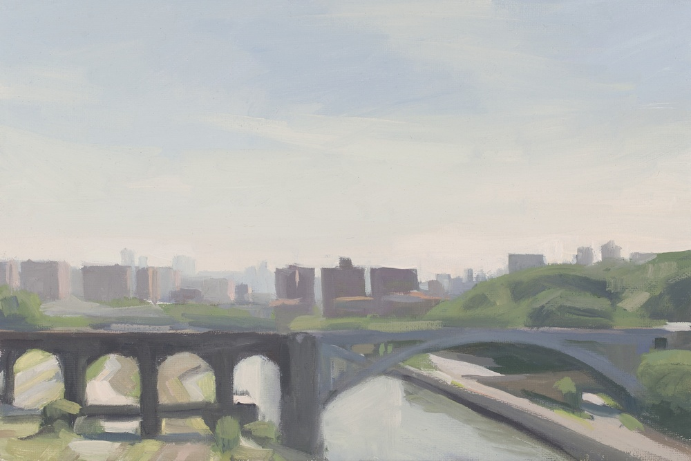 """Diana Horowitz , """"High Bridge"""" oil on linen, 8in. x 12in. (retail value $3000)"""