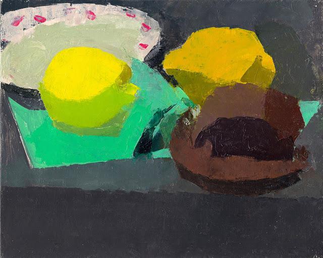 "Ken Kewley , ""Chocolate Cupcake with Lemons"" oil on panel, 8""x10"" (retail value $1500)"