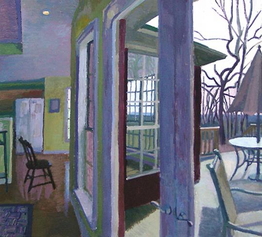 Matthew Lopas, Porch, oil on canvas, 24x25, 2005.jpg