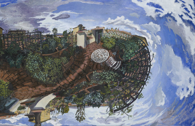 "Matthew Lopas ""Arezzo Rooftop"", 43""x64"", oil, 2014"