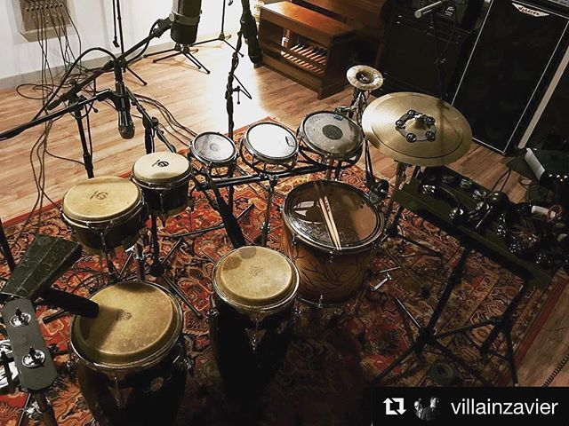 #Repost @villainzavier ・・・ ‪🥁🔔🌀🎶‬ Tracking #percussion for @eyespysee today @silk_city_grooves #drums #studio #percussionist #rhythm #rhythmsection #studiodrummer #řídím #ridim #congas #bongos #rototoms #rototom2017 #lppercussion #remo #remopercussion #zildjiancymbalcompany #zildjiamcymbals #rhythmtech #wuhan #wuhancymbals #percussion #vicfirth #vicfirthsticks #evansheads #recording #recordingstudio #producer #newmusic #sjc