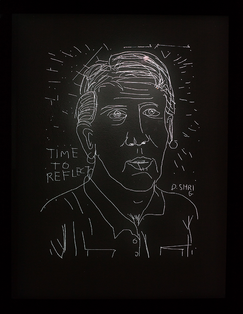 Etching by David Shrigley - Photo by Suzie Jay
