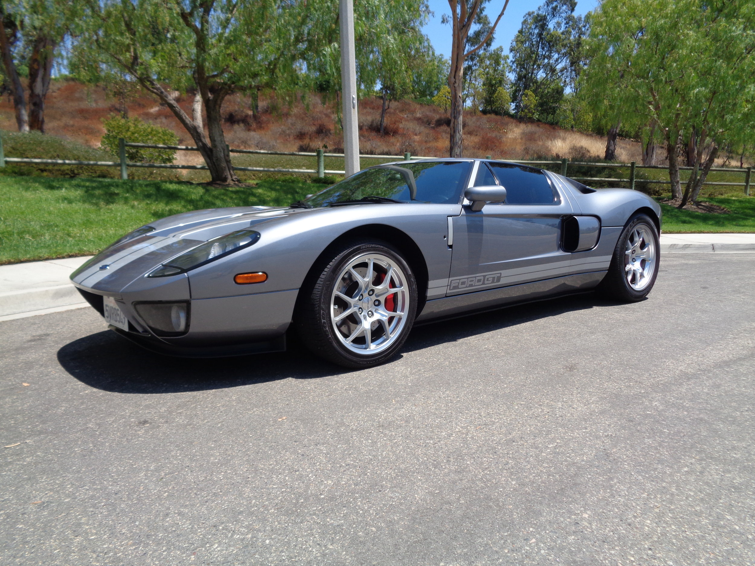 Ford Gt Tungsten With Stripes  Options Incredible Example