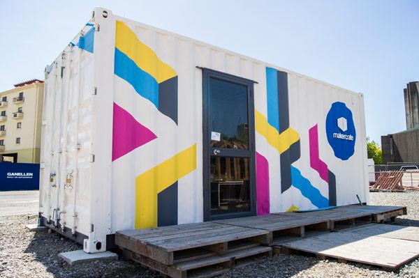 Makercrate:chch at the Pallet Pavilion