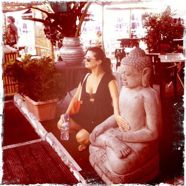 Getting my zen on beachside in Nice.
