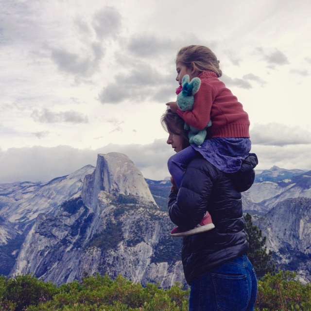 DYNAMIC DUO. Kimberly and her adorable little girl Harper on a hike at Yosemite.  Check out Kimberly's instagram (@kimberlymc) to follow more of Harper's adventures and you'll be smiling with every single post.