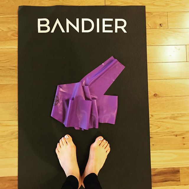 "A calm mind is a creative mind. Started the day with an ""In the Flow"" class by @melissawoodhealth - sometimes you just need to take a deep breath and start moving to come back to you.  Check her out @studiob_nyc !! ✨💜 #bandier #nyc #workout #creativity"