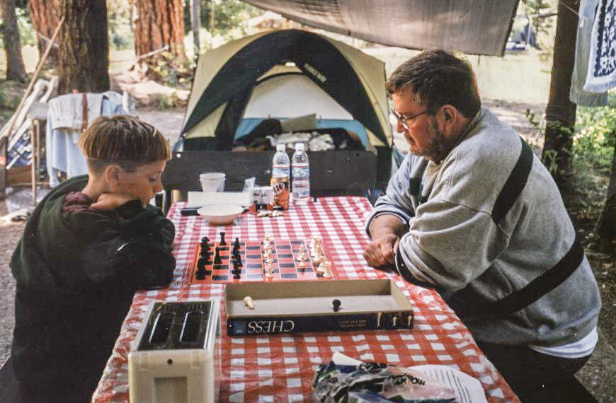 Collin Reed & Cecil playing chess 90s