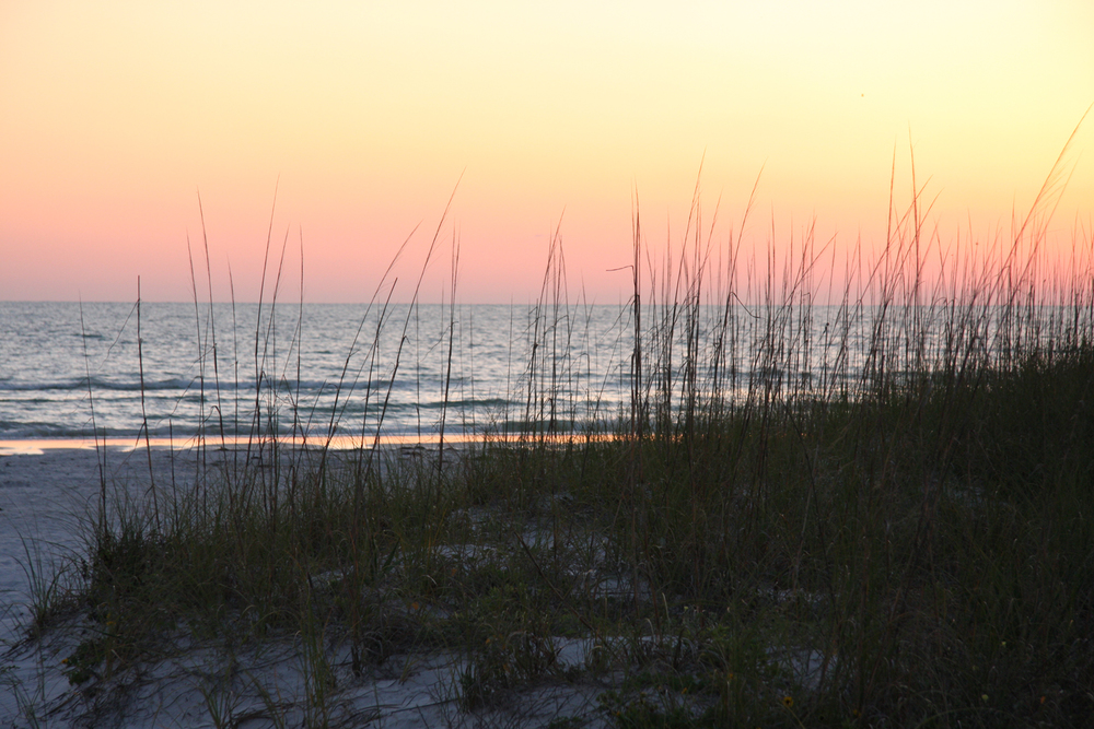 Sunset, St. Pete Beach, Florida, May 2011. (Photograph by Michael Riddle.)