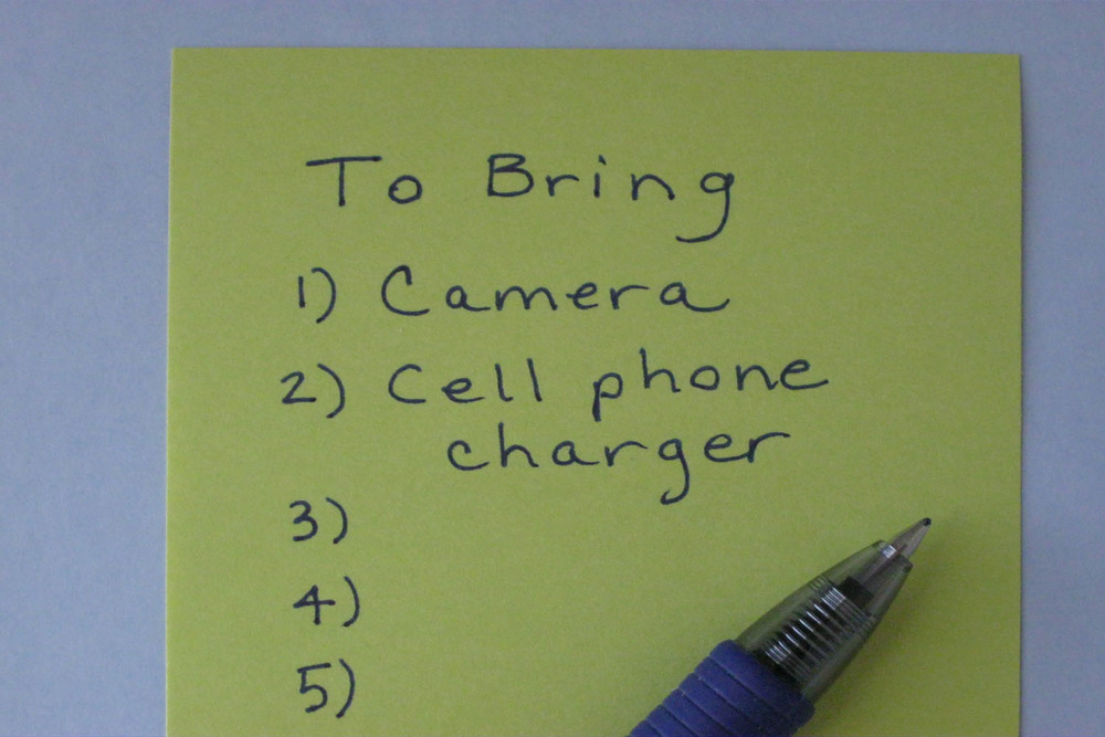 """""""To Bring"""" list"""