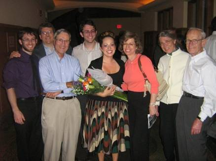 With Family after La Clemenza di Tito