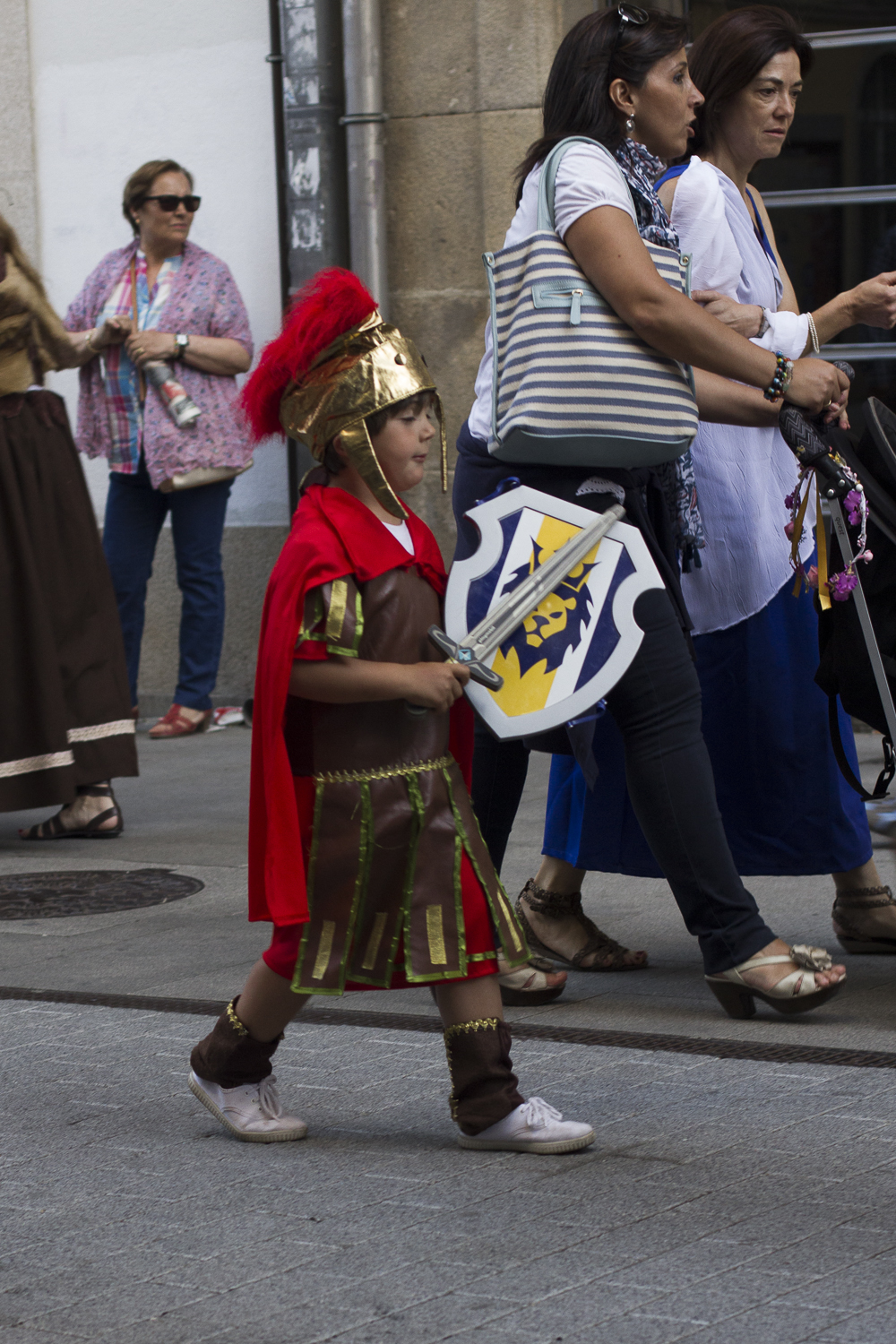 A young gladiator at the Arde Lucus Festival © 2014 Helena McMurdo