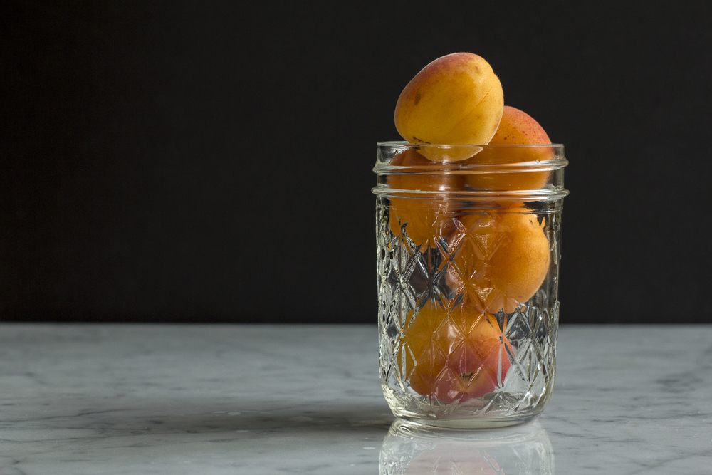 Fresh apricots in mason jar © 2014 Helena McMurdo