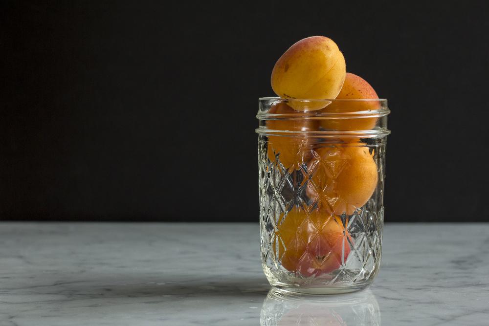 Fresh apricots in mason jar © 2014 Helena McMurdo
