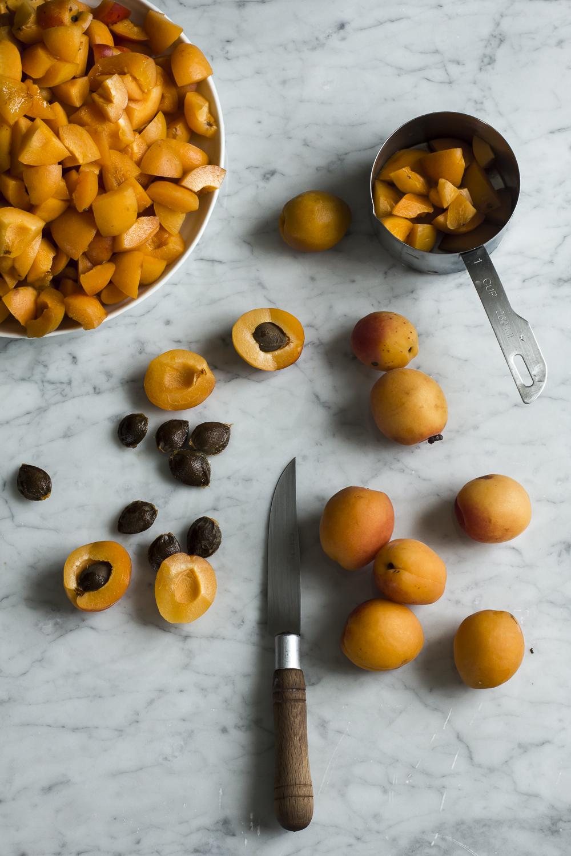 Chopping apricots for Apricot Sultana Chutney© 2014 Helena McMurdo